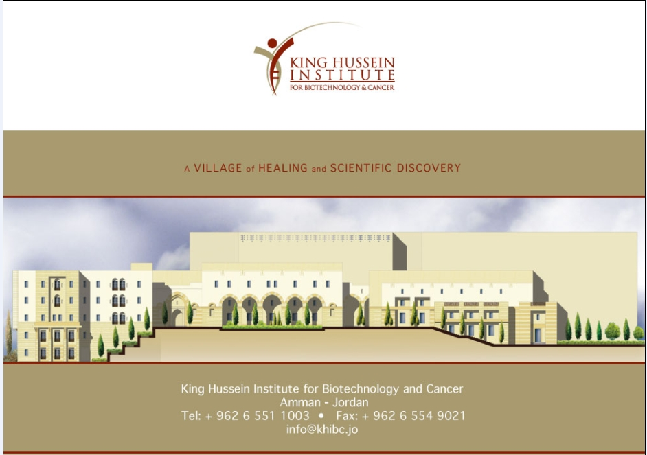 KING HUSSEIN INSTITUTE FOR BIOTECHNOLOGY & CANCER